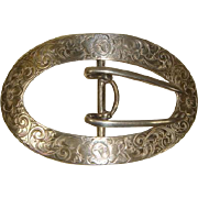Edwardian 1900s Sterling Silver Sash or Belt Buckle George Henckel/A. Stowell & Co.