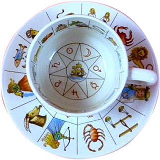 REDUCED Vintage Taltos Jon Anton Fortune Telling Cup and Saucer