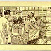 Emile Kahlert: Paper Mill advertising card by Mettler