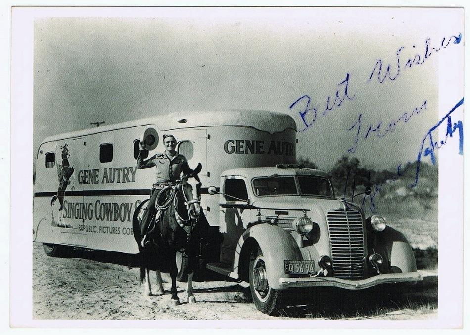 Gene Autry Autograph on Photo Print. CoA