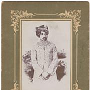 Maharaja Umaid Singh of Jodpur Cabinet Photo app. 1920