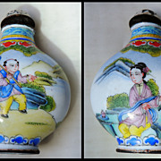 Old Chinese Snuff Bottle. Enameled