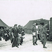 Korea War with GI, authentic Photo