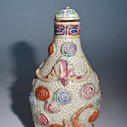 Old Chinese Snuff Bottle Porcelain