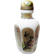 Chinese Snuff Bottle Hexagonal Plum Blossoms