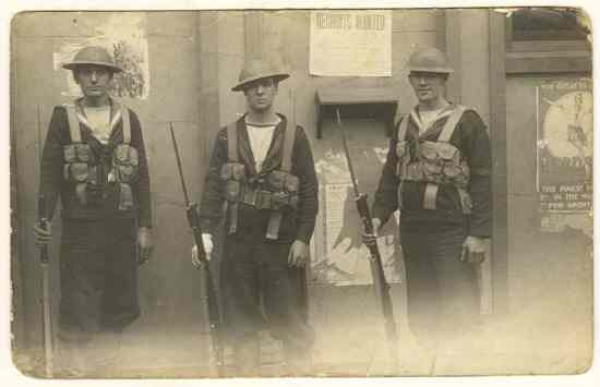 Recruits Wanted – old Photo from ca. 1910