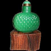 Snuff Bottle with Basket Weave Pattern