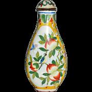 Enameled Chinese Snuff Bottle