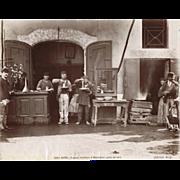 Old Italian Photo with Spaghetti Eaters