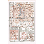 SOLD Old Peking Map from 1900