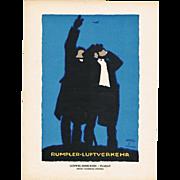 Hohlwein Poster for Rumpler Aviation