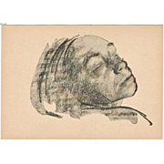 Kaethe Kollwitz Postcard after a Drawing