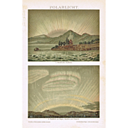 Polar Lights: Old Chromo Lithograph 1898