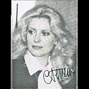 Catherine Deneuve Autograph. COA