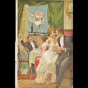 Art Nouveau Postcard: Babies arriving. ca. 1910