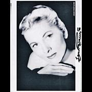 Joan Fountaine Autograph, Signed Photo, CoA