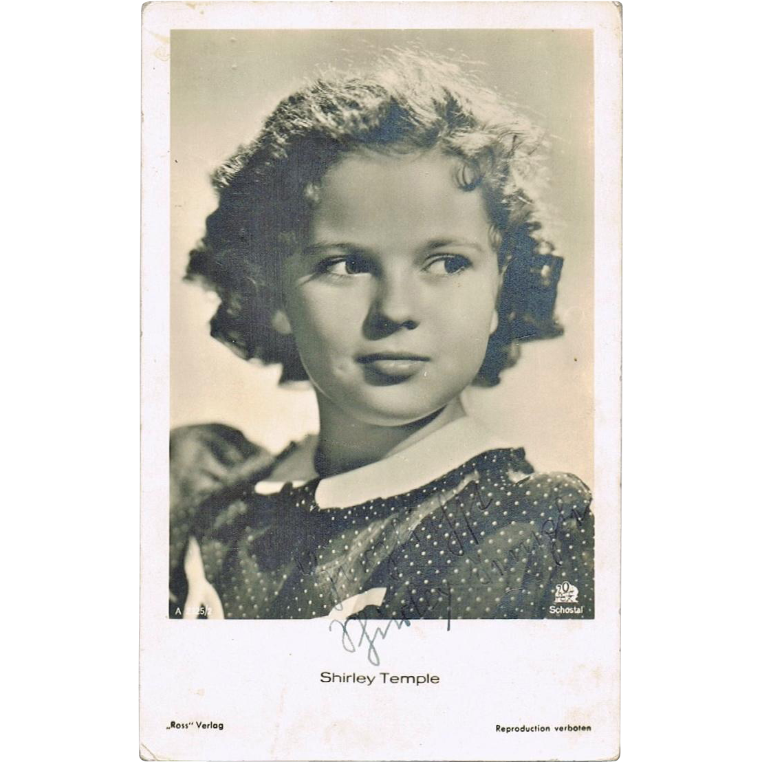 Shirley Temple Autograph