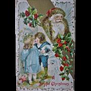 Santa and Children A Joyful Christmas