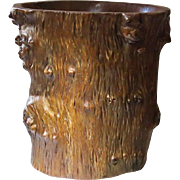 Antique Chinese Gnarled Wooden Brush Pot, very decorative. Agar Wood