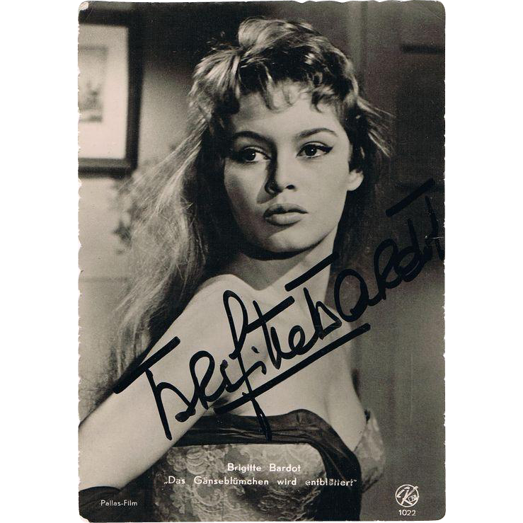 Brigitte Bardot Autograph