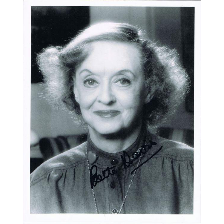 Bette Davis Autograph on photo