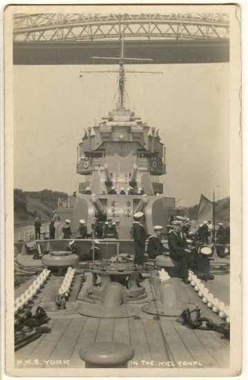 3 vintage Photos War Ship of H.M.S. York.