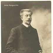 Victor Margueritte Portrait Postcard. Photo by H. Manny