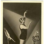 1920: Vintage Photo Acrobats. Advertising.