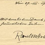 Raoul Aslan Autograph: Letter and Photos. CoA