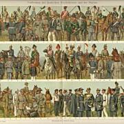 SALE PENDING Uniforms. 167 Images of antique Uniforms. 2 Chromo Lithographs from 1902