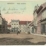 Imperial Austria: Postcard from Benesov, 1912