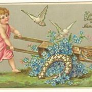 Saint's Day Postcard. Embossed, 1905.