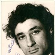 Samy Molcho Autograph. Jewish Mime. CoA.
