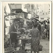 Old Hong Kong: Photo of Market Street. Ca. 1950s