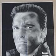 Governor Arnold Schwarzenegger hand signed Poster. CoA