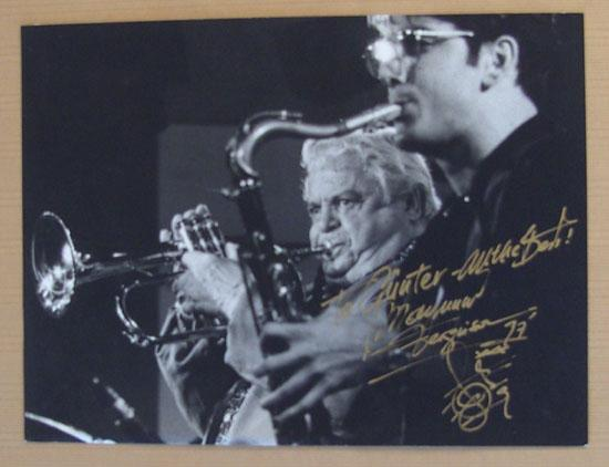 Maynard Ferguson Autograph. Large, hand signed Photo. CoA