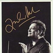 Zubin Metha Autograph: Hand signed, CoA