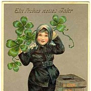 A Happy New Year: Chimney Sweeper and Clover. 1911.