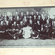 1904: Large Cabinet Photo College for Carpenters and Head Mansions