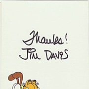 Garfield Cartoonist Jim Davis Autograph. CoA