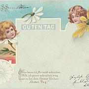 Vintage Darling Postcard: Good Day. 1890s