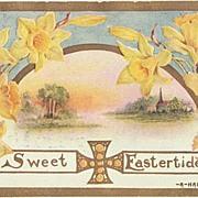 2 embossed Easter Greeting Postcards.
