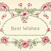 Best Wishes. Embossed Vintage Greeting Postcard