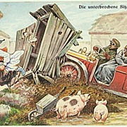 Funny vintage Postcard by Thiele. 1913