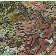 Taking a Bath, Panama. Vintage Postcard, app. 1910