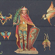 Small Lot of very decorative Die Cuts. App. 1900