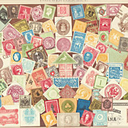 Stamps: Antique Chromo Lithograph from 1898