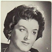 Birgit Nilsson Autograph. Early Decca. COA