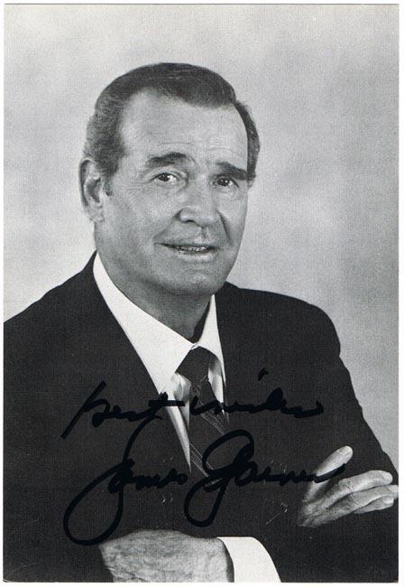 James Garner Autograph on Photo Print. CoA