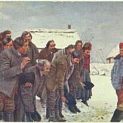 W.W.I.: Arch-Duke Karl, visiting Russia. Vintage Postcard 1916.